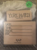 Like new!  Stampin' Up SU Dot Invitation 2 Stamp Set in Glendale Heights, Illinois