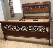 Queen Bed with matching large dresser and mirror. in Warner Robins, Georgia