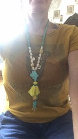 Hippy Necklace Yellow NEW in Ramstein, Germany