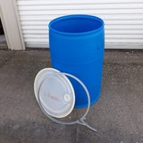 55 gallon drum. food grade. excellent condition in Quad Cities, Iowa