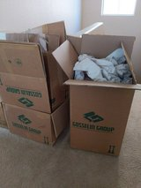 Moving boxes and some packing paper in Nellis AFB, Nevada