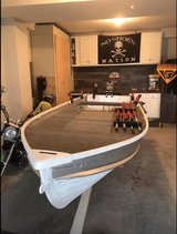 16Ft semi v-Hull aluminum boat with motor and trailer in Fort Campbell, Kentucky