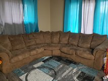 2 PC Brown Sectional in Joliet, Illinois