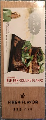 Fire & Flavor Gourmet Red Oak Grilling Planks (set of 2) in Oswego, Illinois