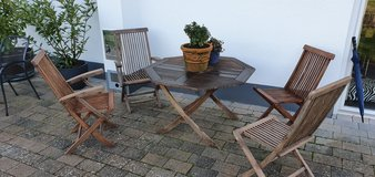 garten table and 4 chairs teak in Ramstein, Germany