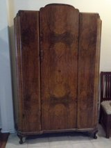 Antique, 1920's, Tigerwood Armoire in Spring, Texas