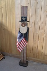 """Tall 60"""" wooden Uncle Sam in Alamogordo, New Mexico"""