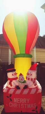 Christmas inflatable in Tomball, Texas