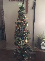 5ft prelit christmas tree fully decorated in Orland Park, Illinois
