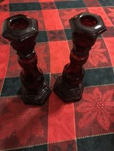Avon Charisma Cologne 2 Candlestick Ruby Red in Fort Campbell, Kentucky