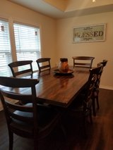 Mango Wood Dining Table and 6 Chairs in Spring, Texas