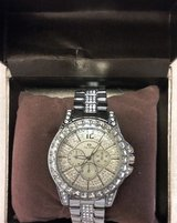 (NIB) Women's Bracelet CZ Diamond Silver Watch in Spring, Texas