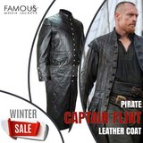 Black Sails S3 Pirate Captain Flint Leather Coat in Spring, Texas