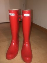 hunter red rain boots in Spangdahlem, Germany