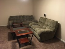 Dual Power Recliner and Love Seat and end tables and coffee table in Fort Campbell, Kentucky