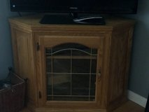 Corner solid Oak tv stand in Westmont, Illinois