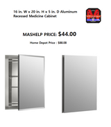 Aluminum Recessed Medicine Cabinet in Fort Riley, Kansas