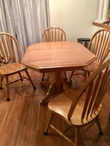 Natural Oak Kitchen Table and Chairs in Plainfield, Illinois