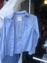 Small Abercrombie and Fitch blue and white striped blouse in Camp Lejeune, North Carolina