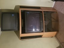 2 older TV's and TV stand in Joliet, Illinois