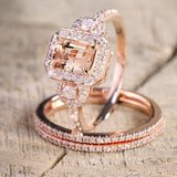 CLEARANCE***BRAND NEW***Morganite & Diamond 18KT Rose Gold***SZ 9 in Cleveland, Texas
