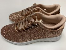 CLEARANCE ***BRAND NEW***Women's Gold Glitter Sneakers***SZ 8.5 in Kingwood, Texas