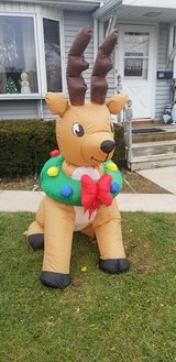 Christmas inflatable in Yorkville, Illinois