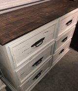 White Distressed Solid Wood Dresser in Tomball, Texas