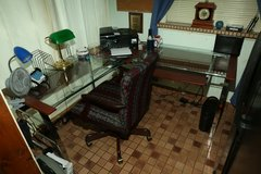 Desk, chair, various office items in Conroe, Texas