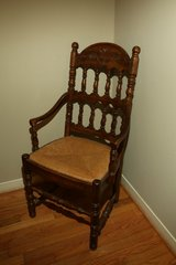 Wooden chair in Conroe, Texas