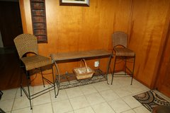 Rod iron/wicker furniture in Conroe, Texas