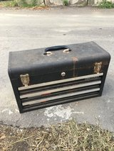 Vintage steel craftman tool box in Okinawa, Japan