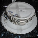 Set of 6 small Plates and 1 large Cake Plate     Article number: 027308 in Ramstein, Germany