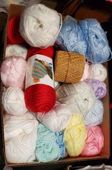 For Sale: Large Box Yarn, 2 Hours ONLY in Joliet, Illinois