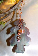 Copper OAK LEAF Ornament ~ Handcrafted in Alamogordo, New Mexico
