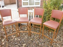 SET OF 4 HIGH bar STOOLS  20.00 FOR ALL 4 COLECTION THETFORD 3 LOTS in Lakenheath, UK