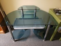 3 Tier Glass & Metal Framed Computer Desk Table in Warner Robins, Georgia