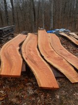 Wild  cherry  LIVE EDGE slabs with curves in Fort Campbell, Kentucky