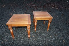set of 2 solid wood side tables in Spangdahlem, Germany