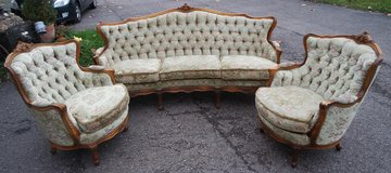 antique sofa with 2 arm chairs in Spangdahlem, Germany