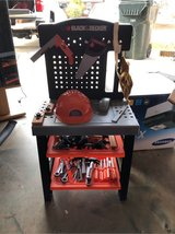 little boys black and decker tool work station in Warner Robins, Georgia