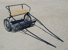Miniature horse cart in Yucca Valley, California