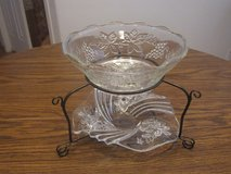 2 tier crystal bowl with dish set great for Holidays in Alamogordo, New Mexico