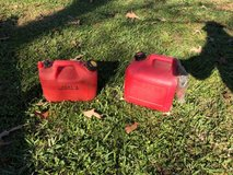 2 small gas cans in Kingwood, Texas