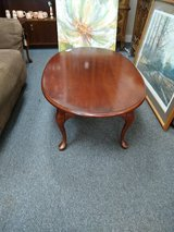 Cherry Oval Coffee Table in Chicago, Illinois