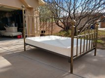 Queen sized brass bed frame and box springs in Alamogordo, New Mexico