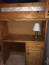 Bunk Bed with Drawers, Shelves & a Desk + 1 Box Spring in Yorkville, Illinois