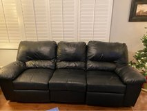 black leather couch, love seat and end table in Naperville, Illinois
