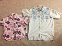 Dad and Child Floral Shirt Set in Okinawa, Japan