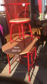 Red Table and 2 Chairs (New) in Fort Leonard Wood, Missouri